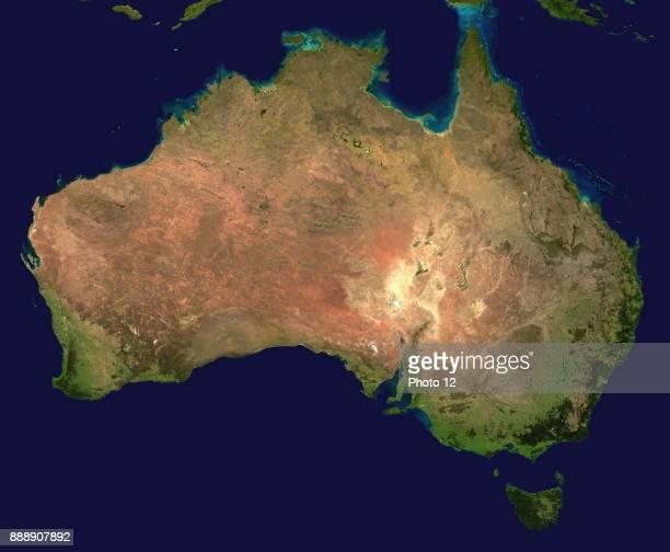 Composite satellite photograph of Australia