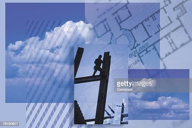 composite with theme of architecture and engineering - viga i - fotografias e filmes do acervo