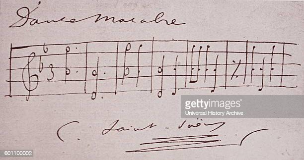 Composition by Camille SaintSaens a French composer organist conductor and pianist of the Romantic era Dated 20th Century