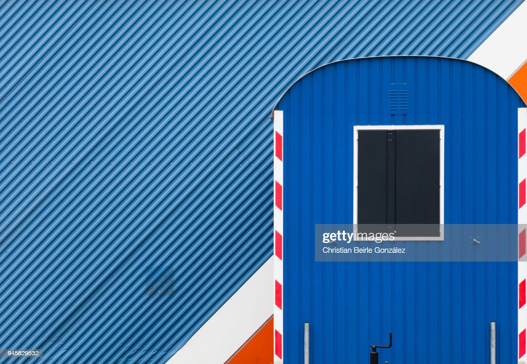 Composition in Blue with Diagonal and Vertical Lines : Stock-Foto