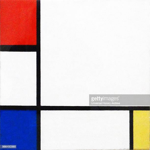 Composition No IV with Red Blue and Yellow by Piet Mondrian a Dutch painter He was an important contributor to the De Stijl art movement and group...