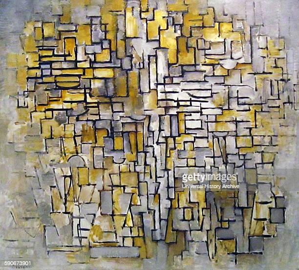Composition No VII 1913 by Pieter Cornelis 'Piet' Mondrian 1872 – 1944 Dutch painter