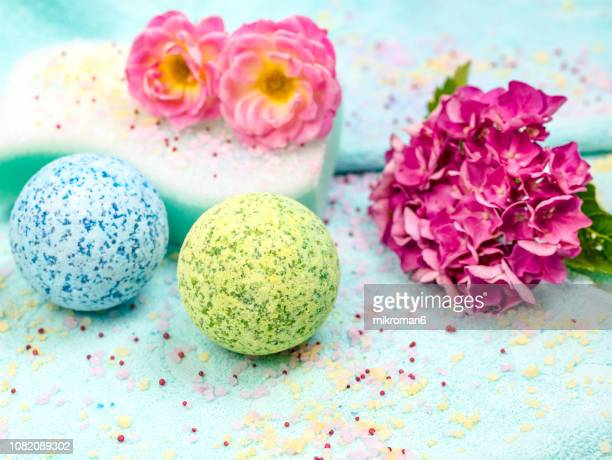 SPA composition with bath bombs, Bath spa accessories