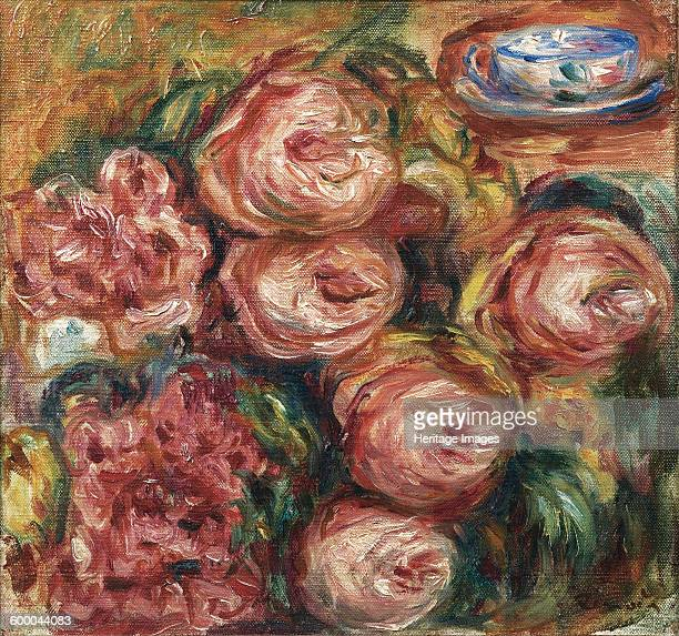 Composition with roses and a cup of tea Private Collection Artist Renoir Pierre Auguste
