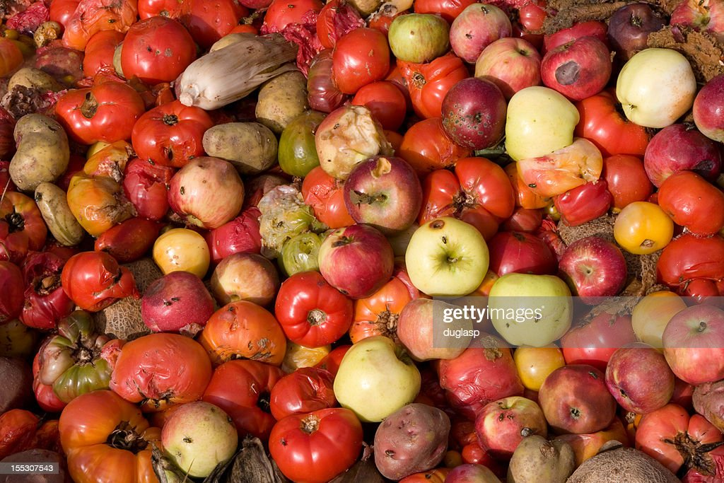 Compost Pile of Rotten Vegetables : Stock Photo