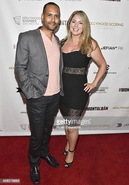 Compsoer Joshua Mosley and Reanne Mosley attend The Hollywood Chamber Orchestra Presents Blackfish Live at The Ricardo Montalban Theatre on July 1...