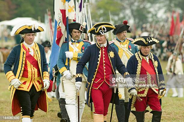 Compte De Grasse Major General in casual attire General Rochambeau at the 225th Anniversary of the Victory at Yorktown a reenactment of the siege of...
