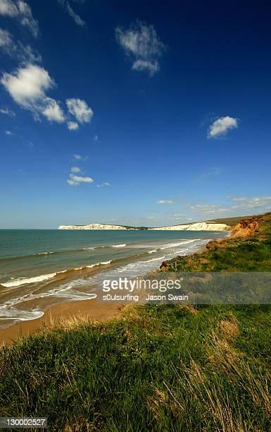 compton bay on glorious spring morning - s0ulsurfing fotografías e imágenes de stock