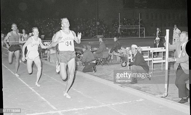 Dyrol Burleson veteran Oregon runner beat Loyola's Ton O'Hara by a step to win the Compton mile in 3574a historic mile performance which saw eight...