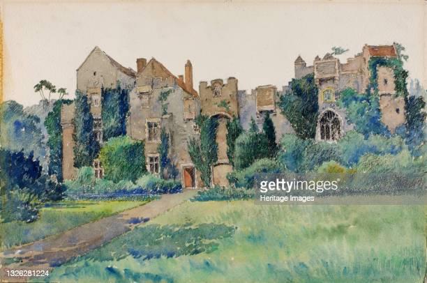 Compton Castle, Devonshire, England, 1928. Artist Cass Gilbert.