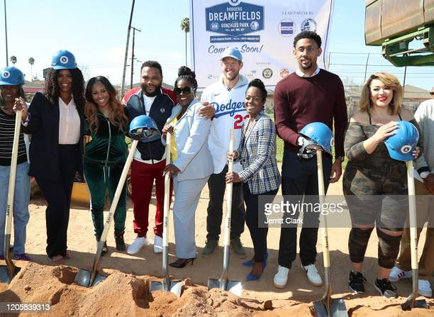 Compton Mayor Aja Brown, Miss Diddy, Actor Anthony Anderson, Compton Councilwoman Michelle Chambers, Dodgers Pitcher Clayton Kershaw, Nichol...