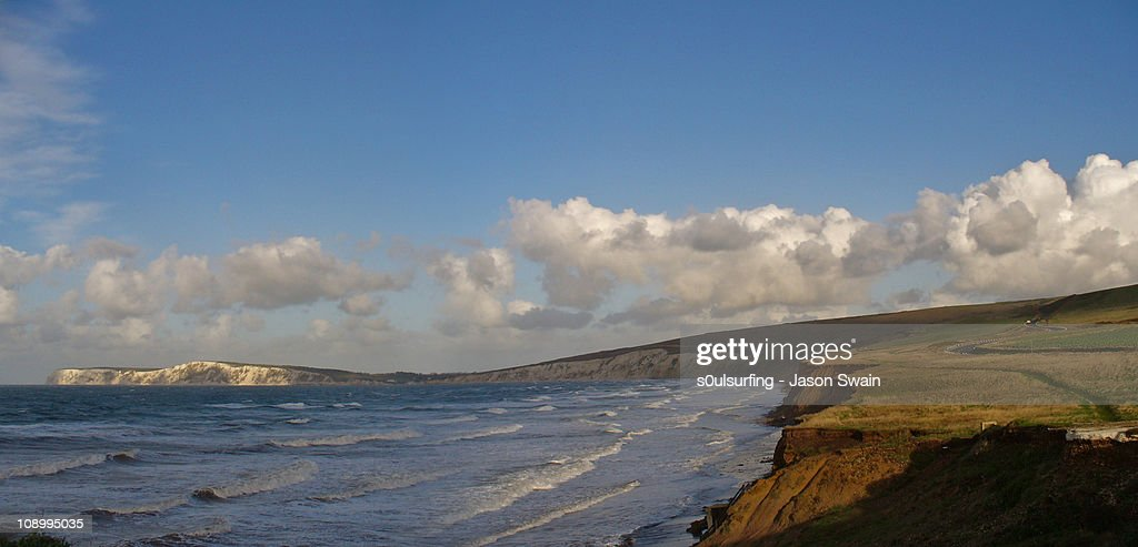 Compton panorama. An Isle of Wight Landscape : Stock Photo