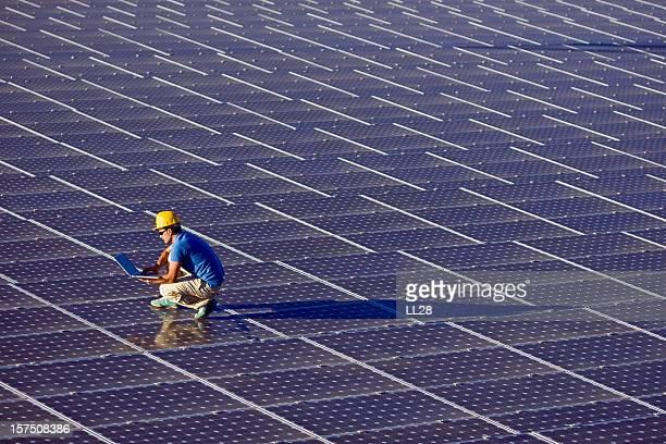 Computer-Analyse in einem photovoltaic farm