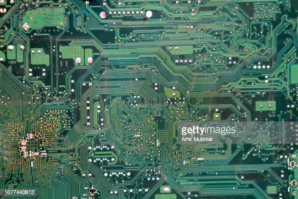 computer board with circuits and chips - cpu stock pictures, royalty-free photos & images