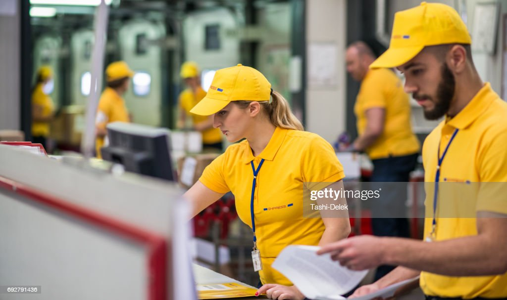 Computer Checking In Warehouse : Stock Photo