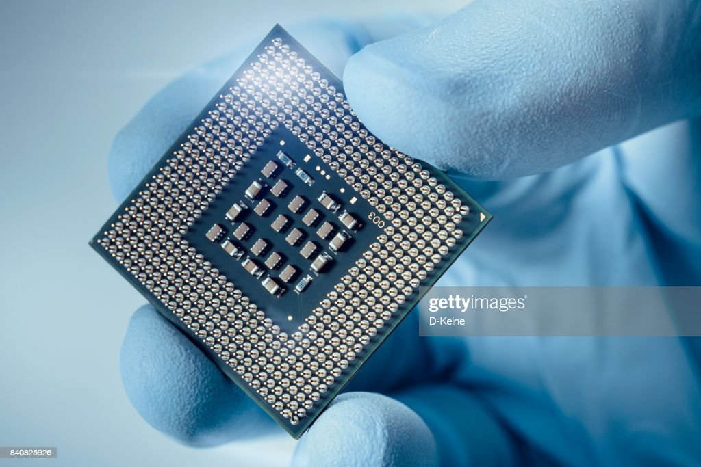 Computer chip : Stock Photo
