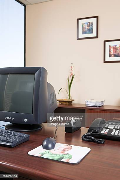 Computer desk in an office