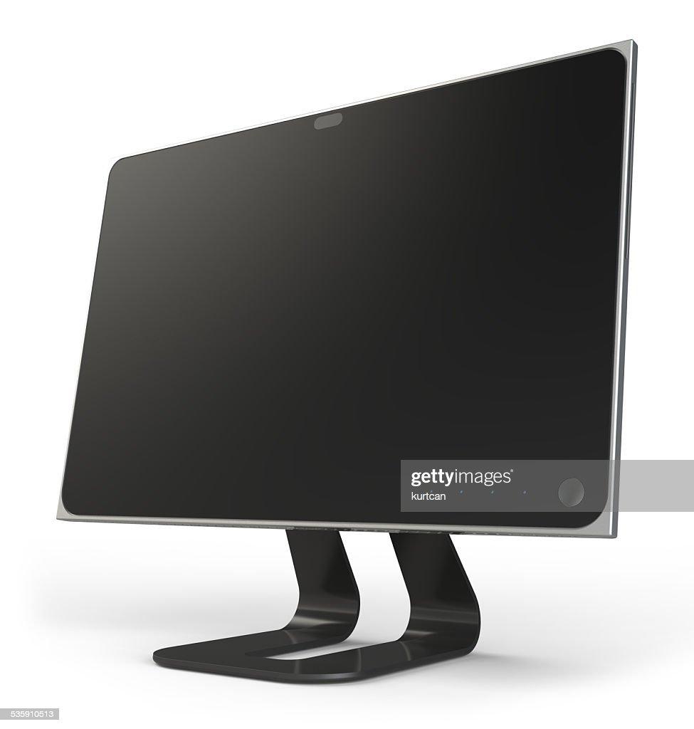 Ecrã de computador isolado no branco : Foto de stock