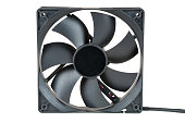 Computer fan isolated on white background