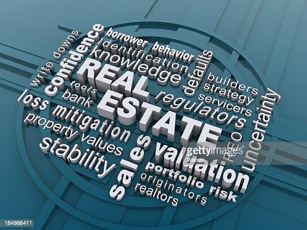 Computer generated abstract of real estate terms