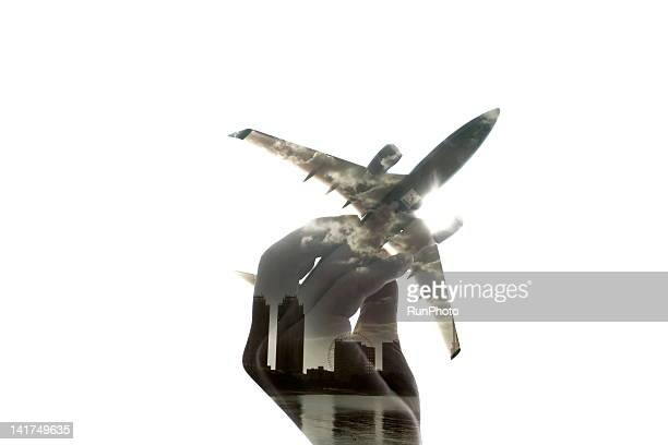 computer graphics airplane - image stock pictures, royalty-free photos & images