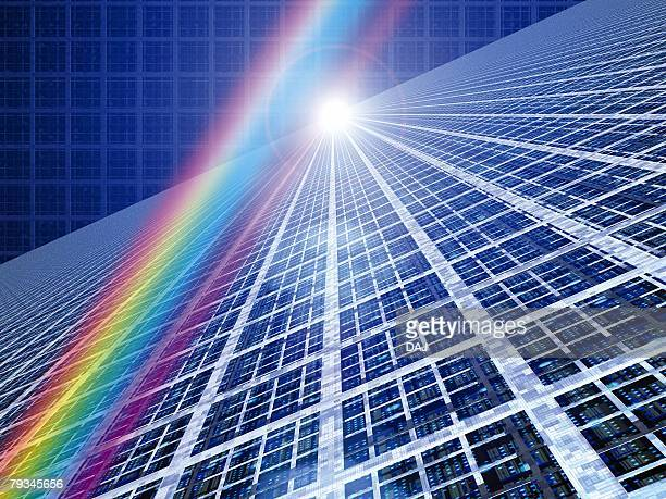 Computer Graphics of prism and lines, CG, 3D Image