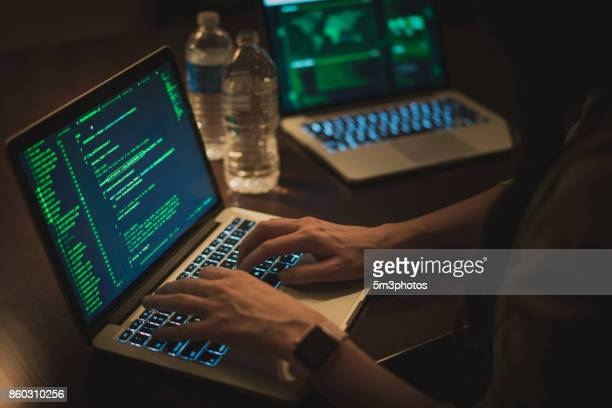 computer hacker - information security stock photos and pictures