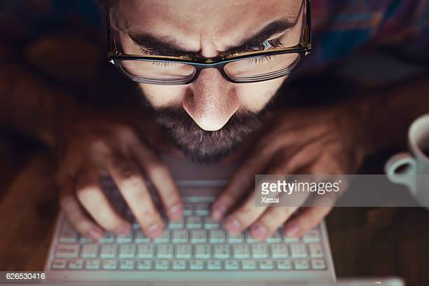 computer hacker stealing information with laptop - thief stock pictures, royalty-free photos & images