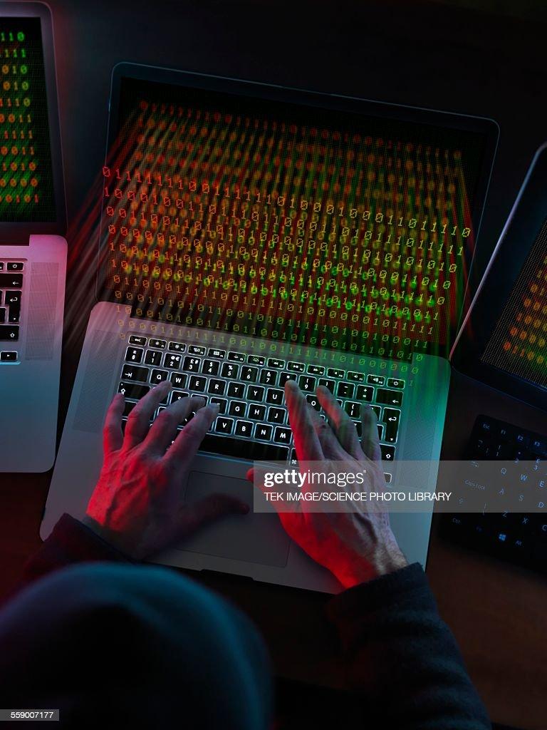 Computer Hacking : Stock Photo
