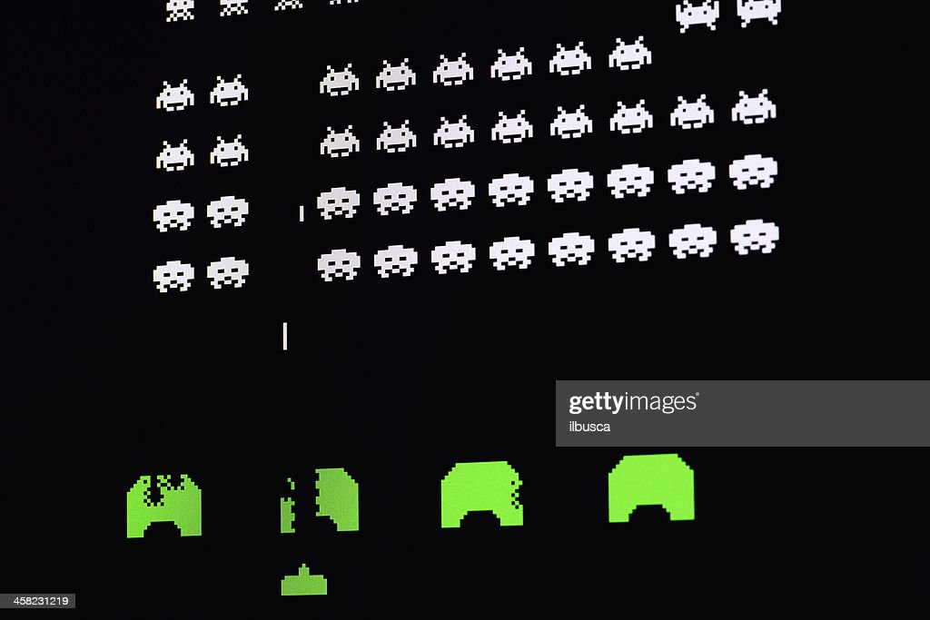 Computer image of video game : Stock Photo