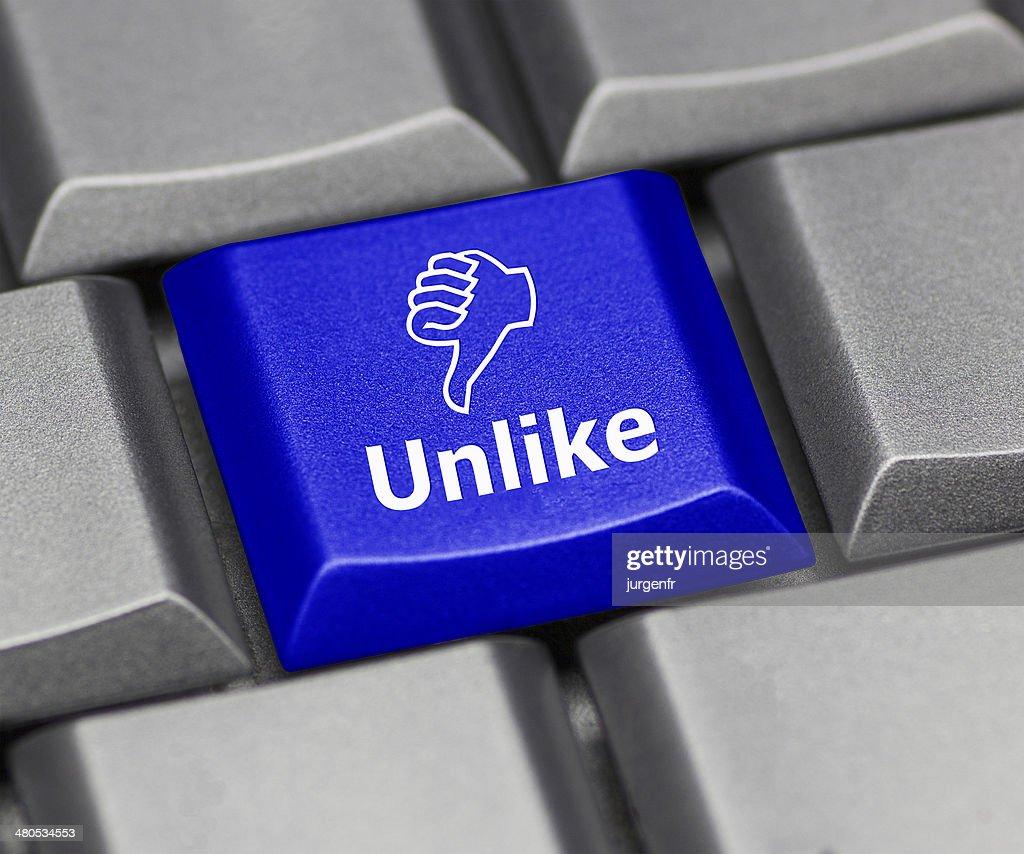 Computer key blue - Unlike : Stock Photo
