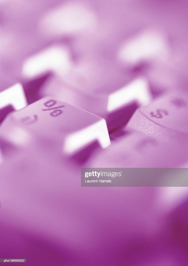 Computer keyboard, blurred, close-up. : Stockfoto