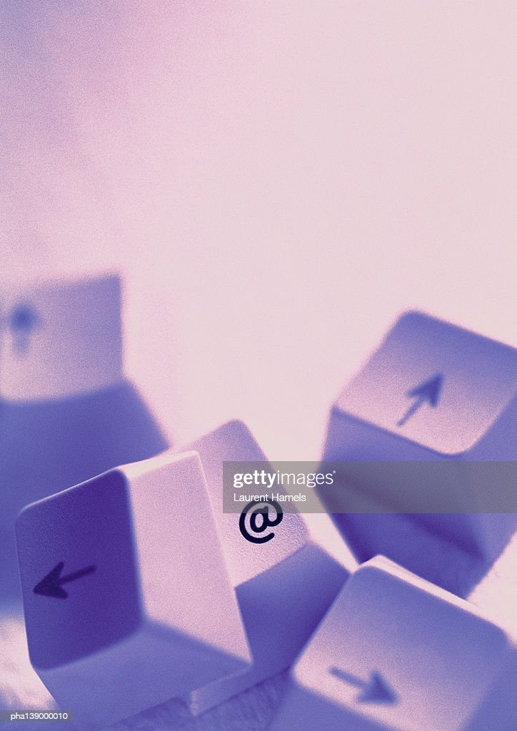 Computer Keyboard Keys One With Commercialat Symbol Stock Photo