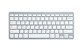 Computer keyboard with clipping path