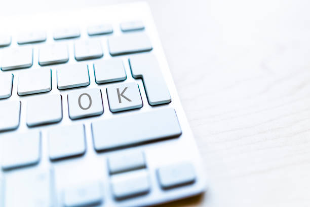 "Computer Keyboard With Empty Keys All But The ""O"" And ""K"""