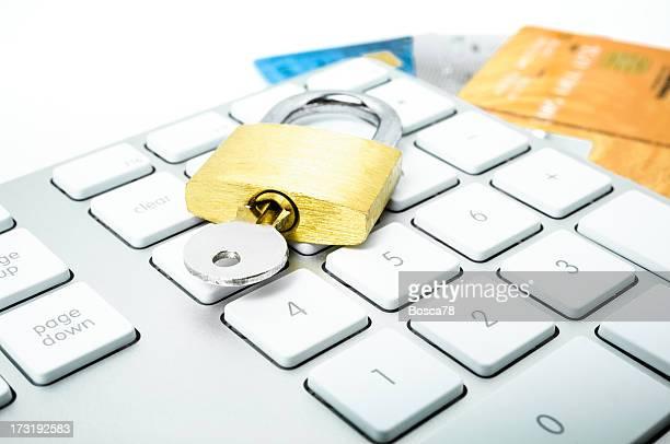 Computer keypad, credit car and lock
