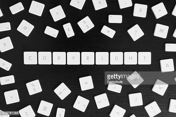 computer keys spelling the word copyright - intellectual property stock pictures, royalty-free photos & images