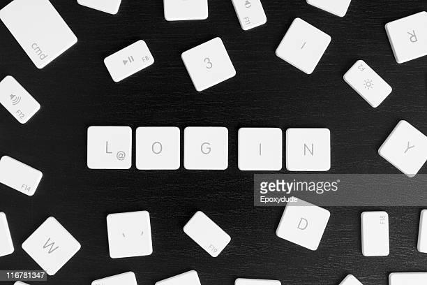 Computer keys spelling the word LOGIN