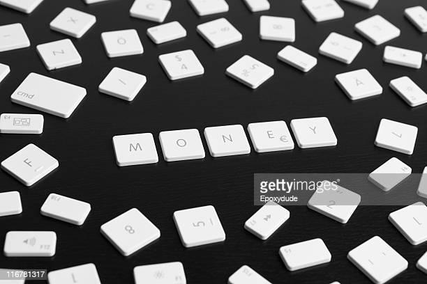 Computer keys spelling the word MONEY