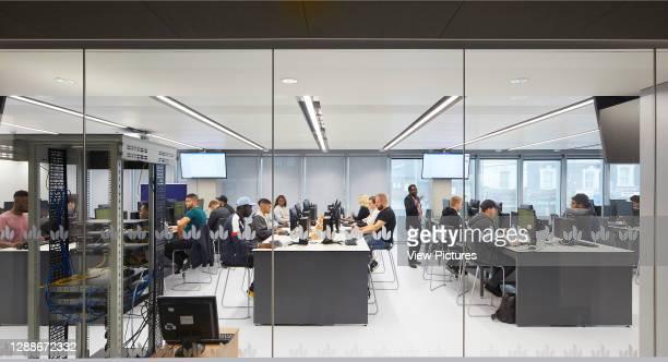 Computer lab. STEM Building - University of Bedforshire, Luton, United Kingdom. Architect: MCW, 2019.