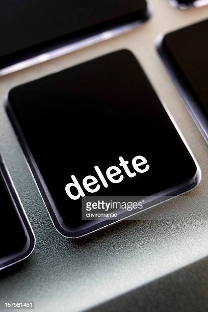 Computer laptop keypad 'delete' button.