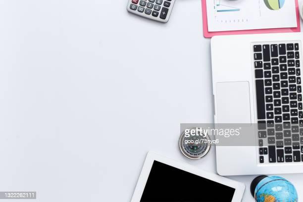 computer laptop tablet calculator financial graph