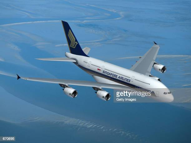 A computer mock up shows the Superjumbo Airbus A380 Airbus has committed itself to the production of the A380 which will begin entering service in...