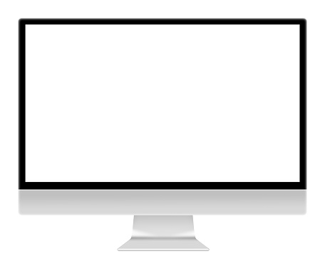 Computer monitor screen illustration isolated on white with clipping path 1145345620
