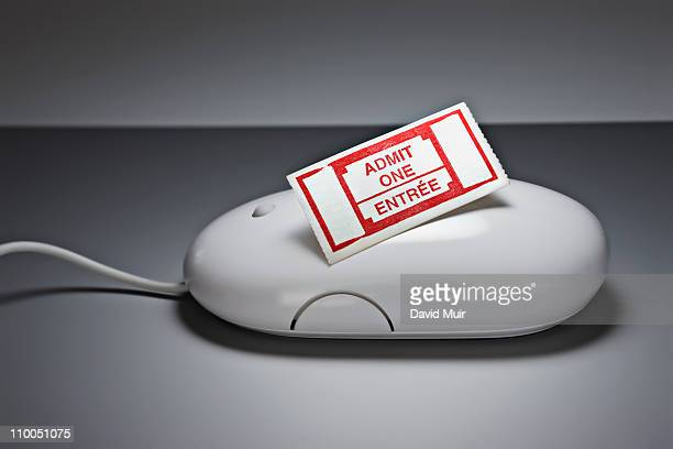 computer mouse and admit one ticket