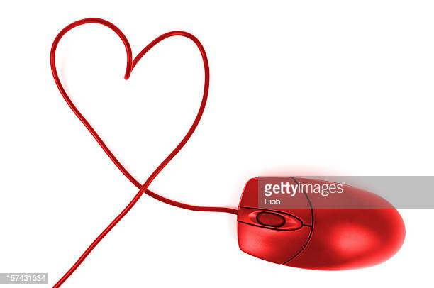 computer mouse and heart
