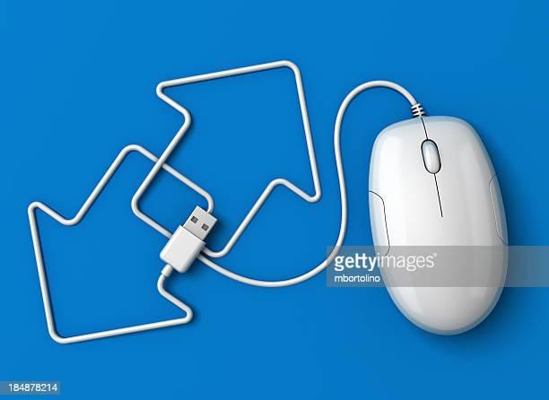 Computer mouse arrows blue