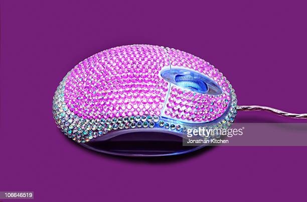 A computer mouse close up covered in Jewels