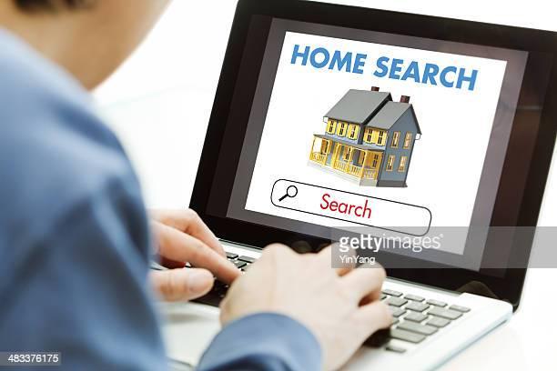 コンピュータのオンラインのインターネットのご宿泊の検索、ハンティング用不動産
