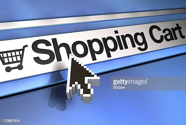 Computer pointer over shopping cart link
